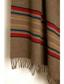 Pendleton Striped Camel Throw Blanket by Pendleton