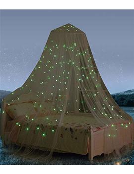Bed Canopy With Fluorescent Stars Glow In Dark For Baby, Kids, Girls Or Adults, Anti Mosquito As Mosquito Net Use To Cover The Baby Crib, Kid Bed, Girls... by South To East