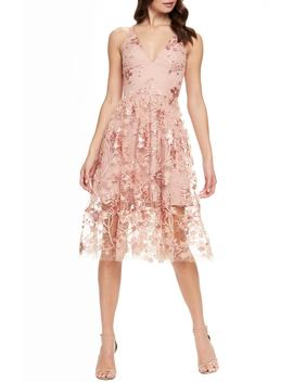 Ally 3 D Floral Mesh Cocktail Dress by Dress The Population