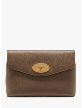 Mulberry Darley Classic Grain Leather Small Cosmetic Pouch, Clay by Mulberry