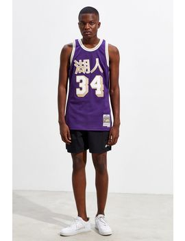 Mitchell & Ness Chinese New Year Los Angeles Lakers Shaquille O'neal Basketball Jersey by Mitchell & Ness