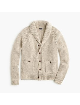 Tall Italian Wool Shawl Collar Cardigan Sweater by J.Crew