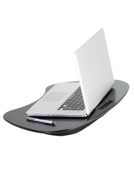 Honey Can Do Portable Laptop Desk With Built In Handle, Black by Honey Can Do