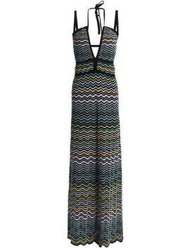 Crochet Knit Cotton Blend Halterneck Maxi Dress by M Missoni