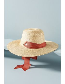 Tracy Watts Brisa Boater Hat by Tracy Watts