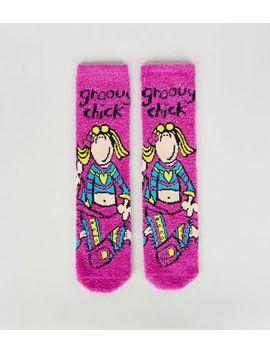 Purple Groovy Chick Socks by New Look