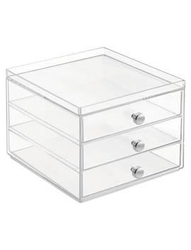 Inter Design Plastic Storage Chest, 3 Slim Drawer by Interdesign