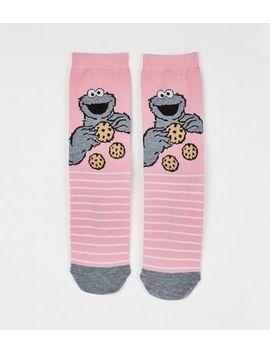 Pink Sesame Street Cookie Monster Socks by New Look