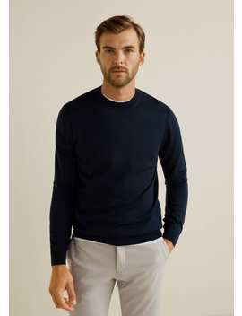 100 Percents Merino Wool Sweater by Mango