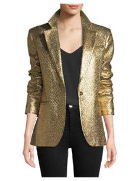 Milly Eva Metallic Blazer Jacket by Milly