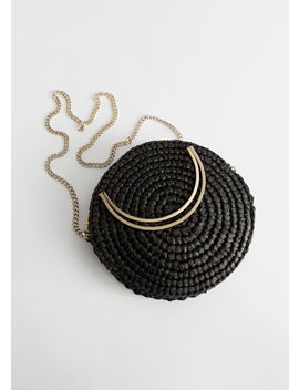Woven Straw Crossbody Bag by & Other Stories