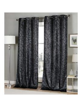 Maddie 84 In. L X 38 In. W Polyester Blackout Curtain Panel In Black (2 Pack) by Duck River