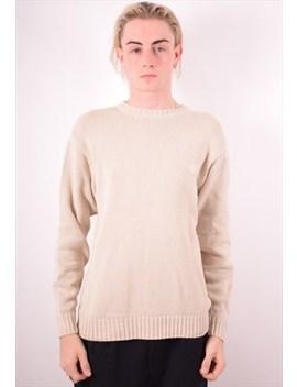 Timberland Mens Vintage Jumper Sweater Small Beige 90s by Timberland