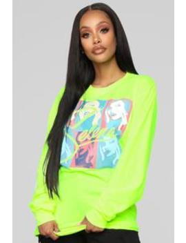 I Could Fall In Love Ls Top   Neon Green by Fashion Nova