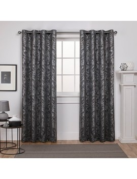 Exclusive Home Watford Distressed Metallic Print Thermal Grommet Top Window Curtain Panel Pair by Exclusive Home