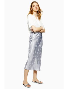 Floral Jacquard Bias Midi Skirt by Topshop