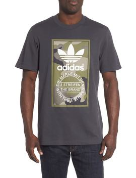 Camo Logo Graphic T Shirt by Adidas Originals