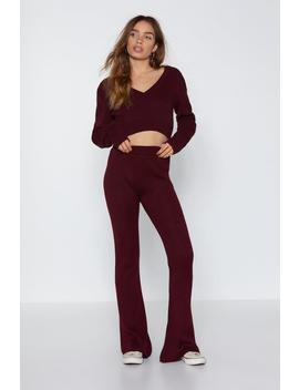 Are You Into Knit Flare Pants by Nasty Gal