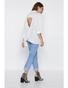 Throw On Your Big Girl Relaxed Shirt by Nasty Gal