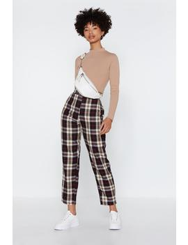 Tartan Up Tapered Pants by Nasty Gal