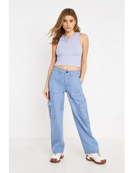 Urban Outfitters– Geripptes Trägershirt In Flieder by Urban Outfitters Shoppen