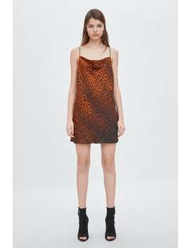 Animal Print Mini Dress  View All Dresses Woman New Collection by Zara