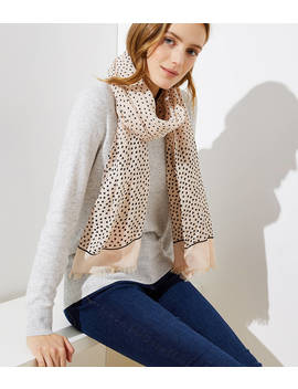 Scattered Heart Scarf by Loft