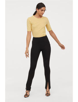 Jersey Trousers With Zips by H&M
