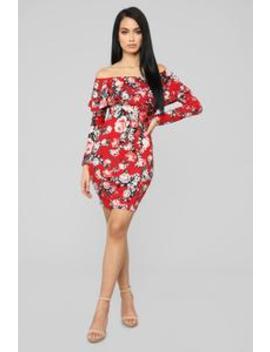 Eloisa Floral Mini Dress   Red by Fashion Nova