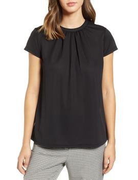 Pleat Front Crepe Top by Halogen®