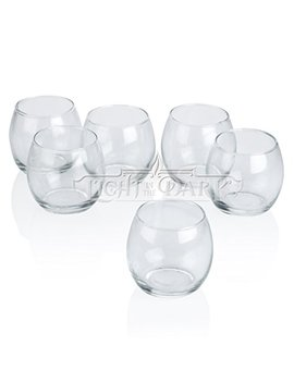 Light In The Dark Clear Glass Hurricane Votive Candle Holders Set Of 12 by Light In The Dark