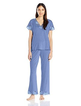 Natori Women's Zen Floral Short Sleeve Pajama Set by Natori