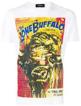 The Lone Buffalo Print T Shirt by Dsquared2