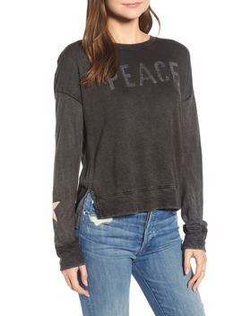 Peace Terry Sweatshirt by Sundry