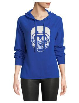 Collegiate Skull Cashmere Hoodie  Sweater by Neiman Marcus