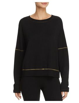 Metallic Stitch Sweatshirt by Sundry