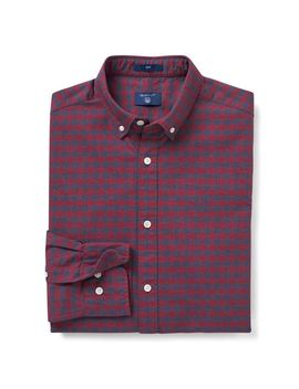Gant Slim Heather Oxford Gingham Shirt by Gant