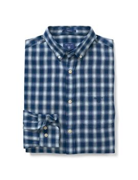 Gant Regular Windblown Flannel Indigo Shirt by Gant