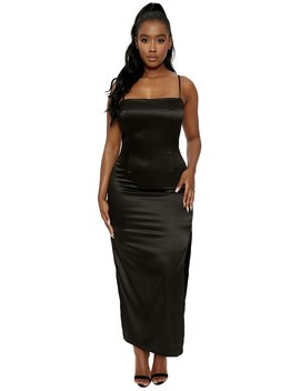 The Satin Sweetie Maxi by Naked Wardrobe