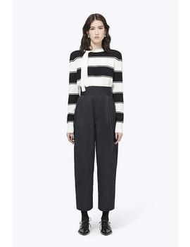Lambswool Stripe Tie Neck Sweater by Marc Jacobs