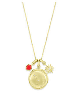 July Cancer Charm Necklace Set In Gold by Kendra Scott