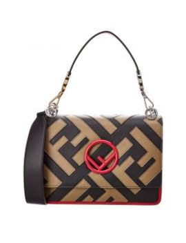Fendi Kan I Logo Leather Shoulder Bag by Fendi