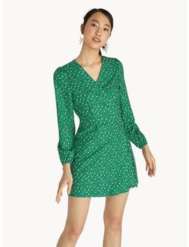 Mini Floral Wrap Dress   Green by Pomelo
