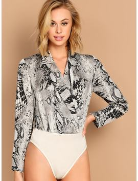 Schlangeleder Body by Shein