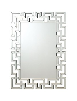 Coaster Greek Key Accent Mirror Keep In Touch by Homes Quare