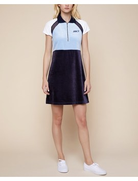 Lightweight Velour &Amp; Mesh Polo Dress by Juicy Couture
