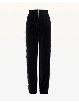 Swarovski Embellished Velour Jogger Pant by Juicy Couture