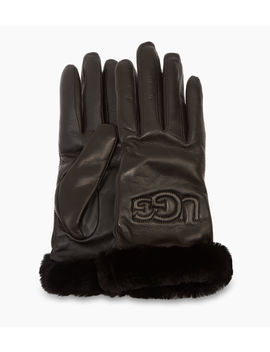 Classic Leather Logo Glove by Ugg