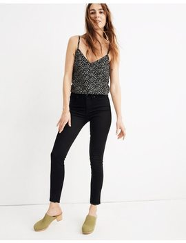 """9""""-mid-rise-skinny-crop-jeans-in-isko-stay-black:-raw-hem-edition by madewell"""