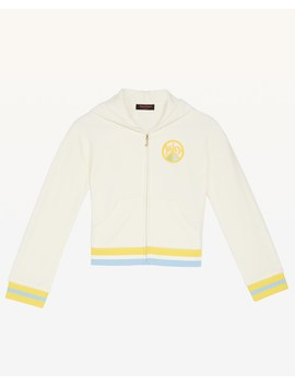 Juicy Peace Velour Hoodie For Girls by Juicy Couture